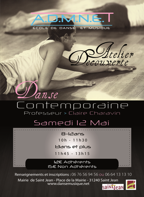 Atelier de Danse Contemporaine.